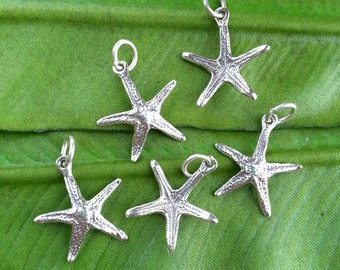 ADD a Starfish Charm, Beach Bangles, Sterling Bangles