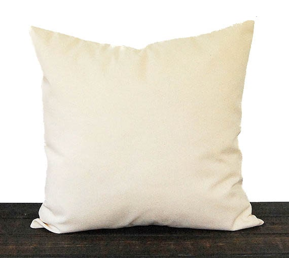 Natural Throw Pillow Inserts : Solid natural pillow cushion cover natural minimalist decor