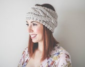 Cable Knit Headband // Knit Headbnad // Ear Warmer // Cozy Slip-on Accessory // Mushroom // Pinterest Fashion
