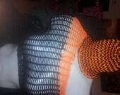 Toddler sized Halloween/tiger striped beanie