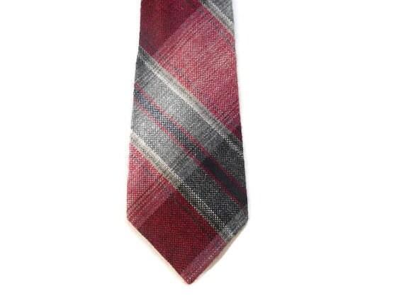 cranberry plaid tie 3 narrow wembley tie