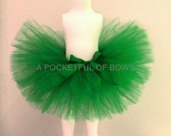 Green Tutu Skirt, Green Toddler Tutu, Toddler Tutu Skirt