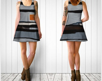 ContainerScape - Flared Dress - Montreal Fashion / Original Art Print