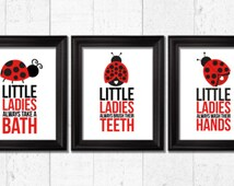 Little Ladybugs Bathroom Rules Ladybug