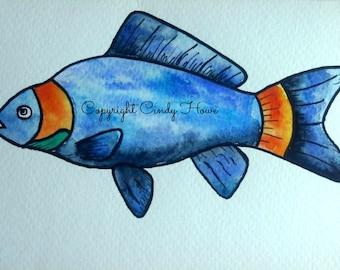 Digital art, digital download, fish, fishing, fishes,ocean fish
