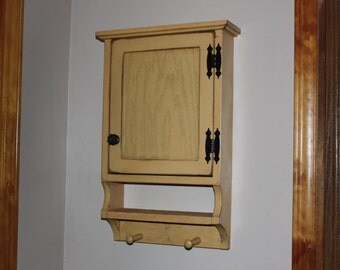 Cabinet, FREE SHIPPING, Wall, Small, Medicine, Towel Peg, Curio, Shabby, Chic, Rustic, Primitive, Cottage
