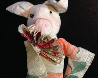 Geisha Pig Christmas Ornament