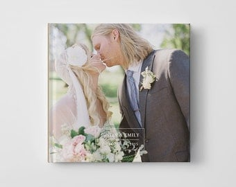 Wedding Photo Book Cover Template for Photographers, Engagement Book Template Cover, Photo Book Cover Template - BC103