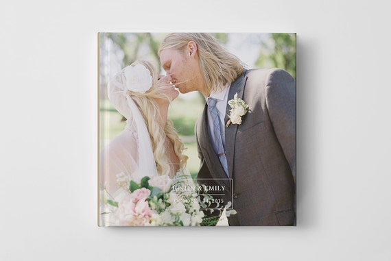 Photobook Cover Ideas : Wedding photo book cover template for photographers