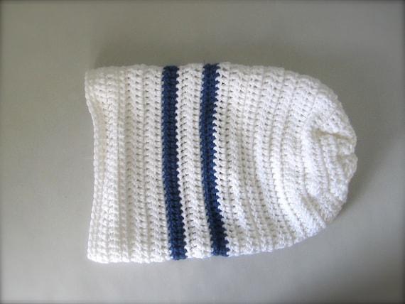 Items similar to Crochet Royal Blue and White Toronto ...