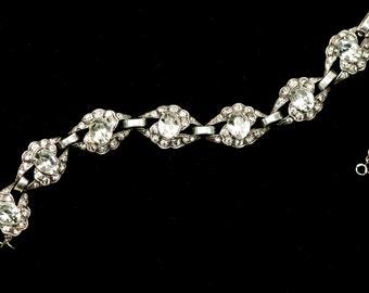 Sterling Eisenberg Bracelet Rhinestone Link 1940s