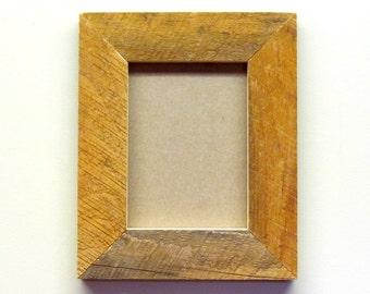 Barnwood Rustic Picture Frame, 5x7 Frame, Rough Cut Frame, Reclaimed Wood, Rustic Decor, Log Cabin Decor