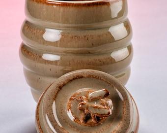 Honey Bee  lidded Jar