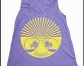 Women's Hawaii Sunshades Retro Sunglasses Tank Top Vintage Revival Hawaiian Shirt