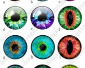 Eyes Charm Round Clear Glass Cabochons - Handmade Glass Photo Cabochon ---10mm 12mm 14mm 16mm 18mm 20mm 25mm 30mm---