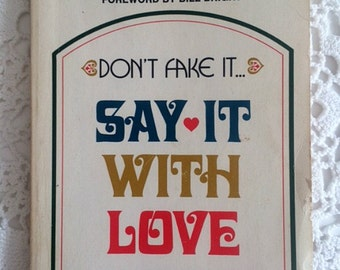 Say It With Love, Inspirational Bible Study Book by Howard G. Hendricks, Vintage Paperback Book, Christian Encouragement, Pastoral Library