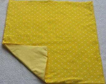Waterproof Yellow Unisex Soft Baby Changing Mat-Waterproof Yellow Unisex Soft Baby Changing Pad-Yellow and White Polka Dot Changing Pad