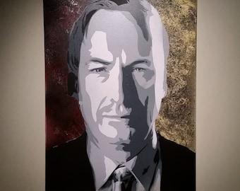 """50% OFF! Saul Goodman aka Jimmy McGill - Better Call Saul stencil spray painting - 18""""x24"""" large - graffiti street art"""