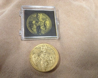 Vintage Goldtone Progress Through Unity Coin United Transportation Union