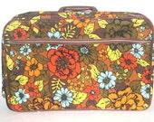 Vintage Japanese Floral Hippy Suitcase, 1960s, 1970s,  Antique Alchemy