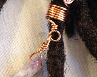 Amethyst Swirl Dreadlock Bead Dread Locs Accessories