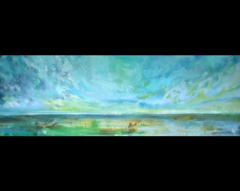 In the Afternoon. Impressionist Seascape Painting