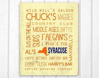 Syracuse Bars: Syracuse University Print