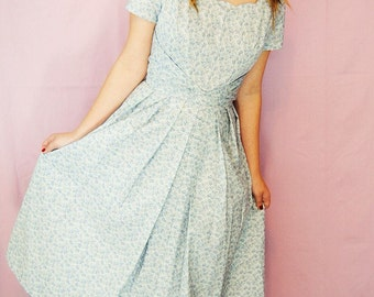 Cora dress - 1950s vintage style handmade custom reproduction