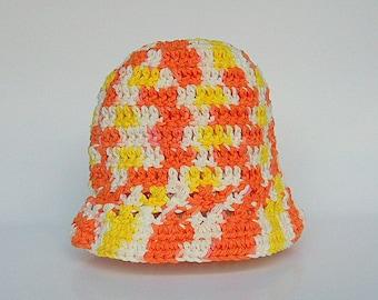 Newborn Yellow Orange White Hat Infant  Girl  Spring Cotton  Cap 0 To 3  Months Baby Boy Summer  Beanie