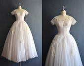Ethel / 50s wedding dress / vintage 1950s wedding dress