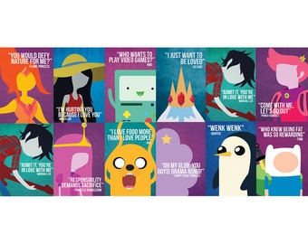 8x12 INCHES Adventure Time Poster