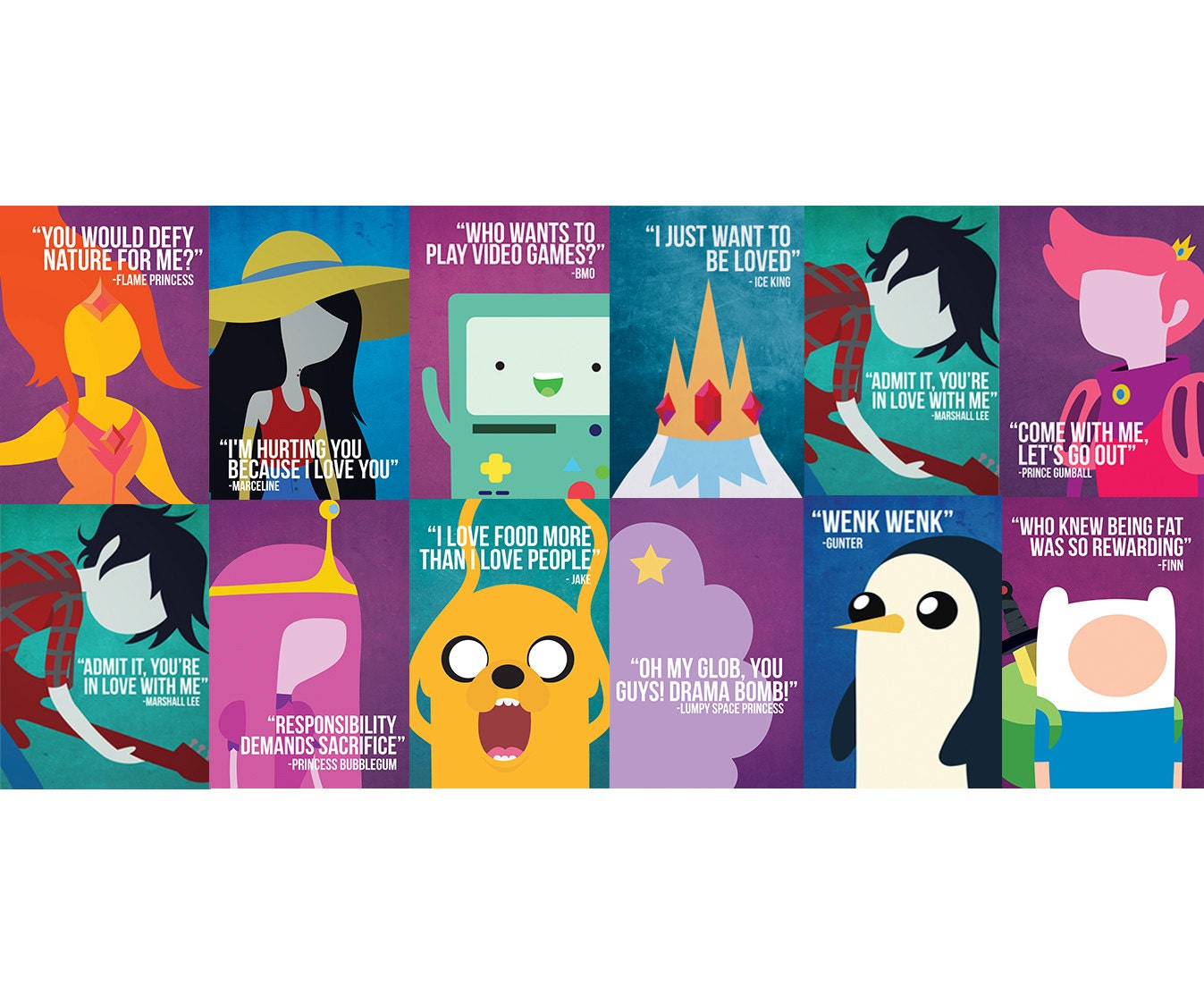 8x12 inches adventure time poster by imprimeredesigns on etsy. Black Bedroom Furniture Sets. Home Design Ideas