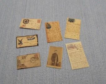 Gaël Miniature Letter set vintage mail Civil War Love Letters