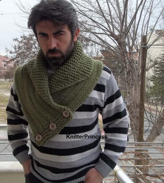 Mens Cowl Knitting Pattern : Items similar to Knitting mens cowl, mens neck warmers, unisex cowl, womens c...