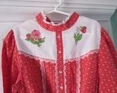 Vintage Strawberry Shortcake dress, size 12, rare