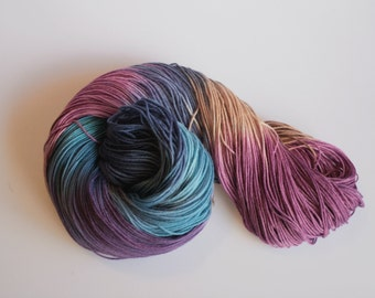 Sock Yarn 'Outlaw' - Hand dyed Sock Yarn, Hand dyed yarn, Knitting Sock Yarn 4 ply, Superwash Merino