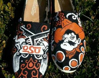 O S U Handpainted Oklahoma Custom Toms