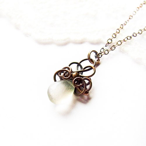 Simple Wire Wrapped Drop Necklace Tutorial Jewelry Tutorial