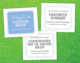 34 Unique Easter Coupons for Kids, Printable PDF