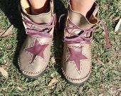 Gold n' Purple PiXie Boots, Cosplay, Steampunk, Burning Man, Festival, Doof, Hippie