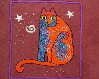 """Patch Suede Embroidered Fantasy Zen Cat 5"""""""
