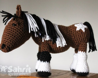 PATTERN Instant Download O-So-Cute Morla the Horse Crochet Amigurumi