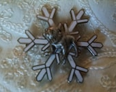 Mack Bulldog  Snowflake  Brooch Pin, Vintage Costume Jewelry