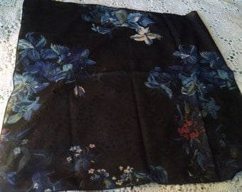 Square Navy Scarf