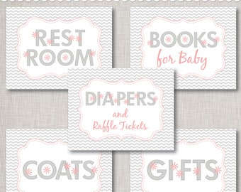 Baby Shower Signs PDF Full Sheet Printable Digital Files