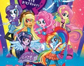 Equestria Girls Rainbow Rocks MLP My Little Pony Invitation Digital File 4X6 or 5X7
