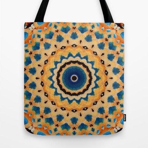 Monarch Butterfly Mandala Photo Tote Bag, Photography, Photo Tote, Tote Bag, Market Bag, Nature, Butterflies