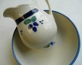 Heartstone blueberry, pitcher, bowl