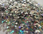 Holographic Silver CIRLE SOLVENT RESISTANT Glitter 5 grams