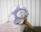 Blue and White Wedding Bouquet, Bridal Alternative Bouquet, Flowers for the Bride, Bridesmaids, Nautical Wedding, Beach Ceremony